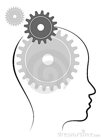Head with gears Vector Illustration