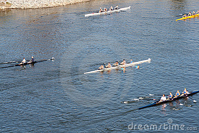 Head of the Hooch Rowing Regatta Editorial Photography