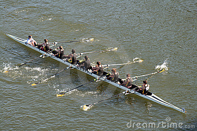 Head of the Hooch Rowing Regatta Editorial Stock Photo