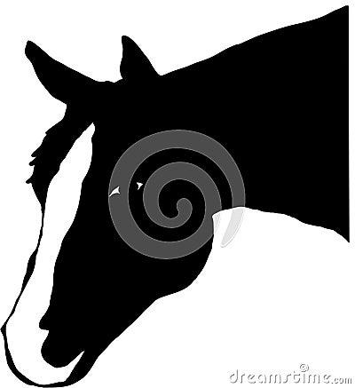 Paint Horse Head Silhouette