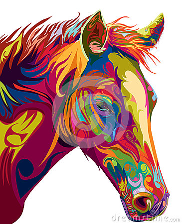 Free Head Horse Vector Royalty Free Stock Photos - 54781448