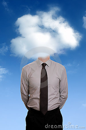 Free Head In The Clouds Royalty Free Stock Image - 21476096