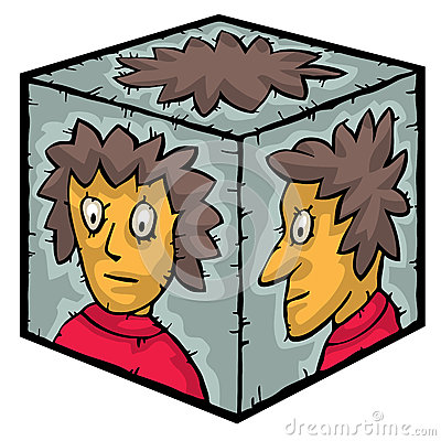 Head inside a box
