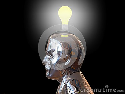 Head light bulb. Idea concept.