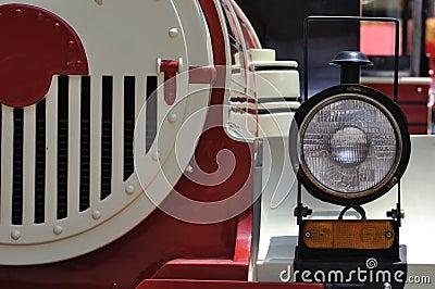 Head light of train