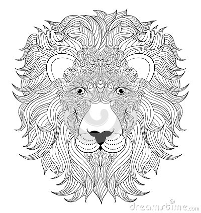 Head Of Lion Stock Vector Image 70644825
