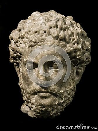 Head of Marcus Aurelius, roman emperor