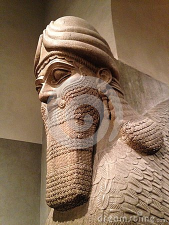 Free Head Of Lamassu In Metropolitan Museum Of Art. Stock Photos - 64553623