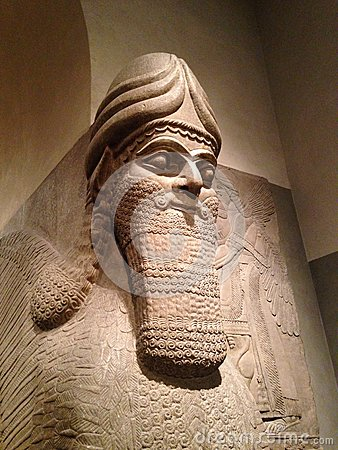 Free Head Of Lamassu In Metropolitan Museum Of Art. Stock Images - 64553664