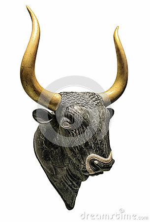 Free Head Of Minotaur Bull Stock Photography - 50898632