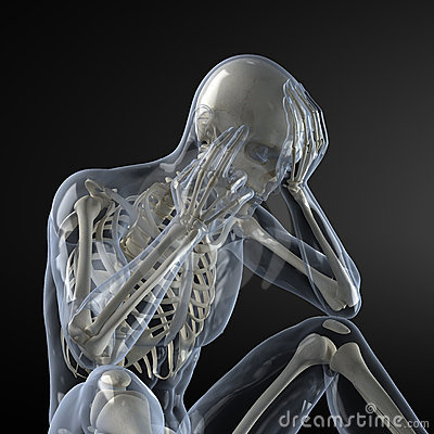 Head Pain X-ray concept