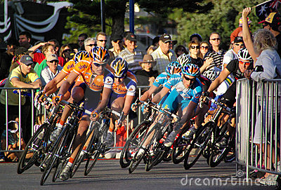 Head of the Peloton - Tour Down Under Editorial Image
