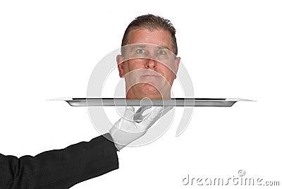 Head on a platter