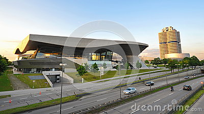Head quarters of BMW and BMW World in Munich Editorial Photo