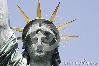 Head replica statue of liberty in Tokyo