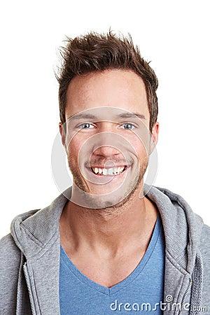 Head shot of happy smiling man