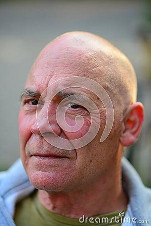 Free Head Shot Portrait Of Old Man Stock Image - 44816091