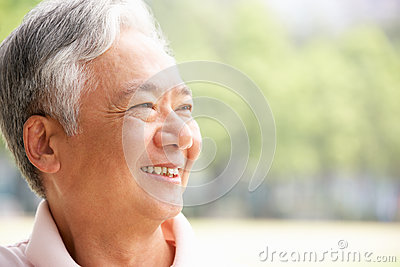 Head And Shoulders Portrait Of Senior Chinese Man