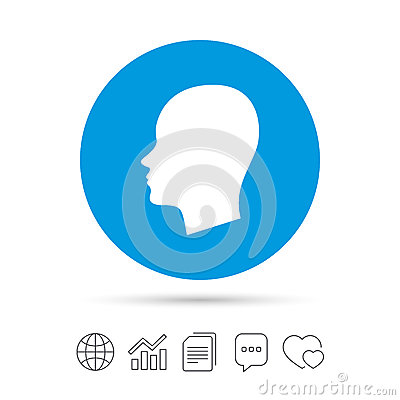 Free Head Sign Icon. Female Woman Human Head. Stock Images - 86131674
