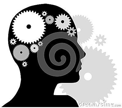 Head silhouette för kugghjul