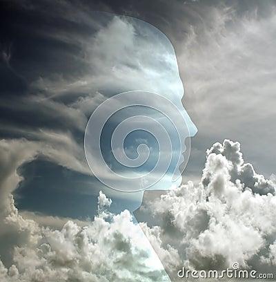 Head in sky