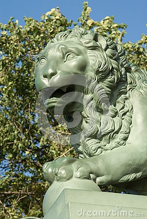 Head of a stone lion