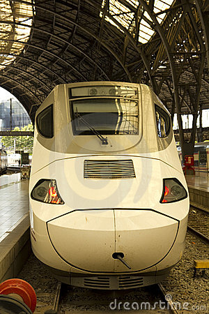 Head of the train, at railway station