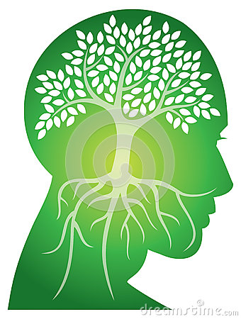 Head Tree Logo Vector Illustration