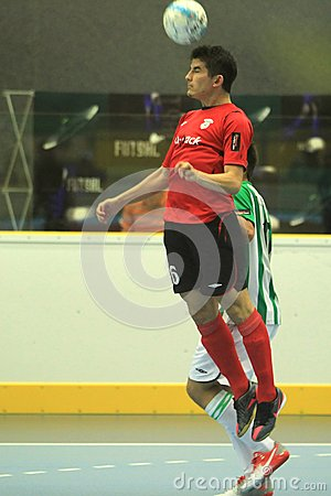 Heading Douglas - futsal Editorial Stock Image