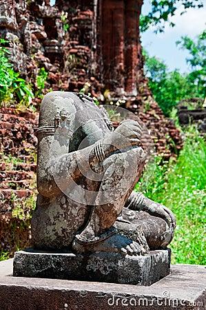 Free Headless Buddha, My Son, Vietnam Royalty Free Stock Photo - 21681085