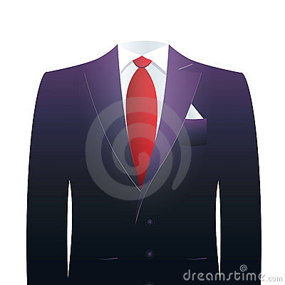 Headless businessman s suit