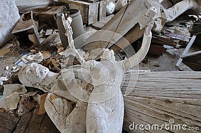 Headless sculpture ancient goddess Editorial Stock Image