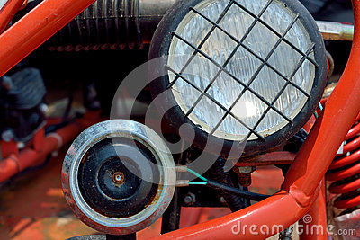 Headlight and horn of sports motor