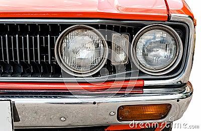 Headlight of old car