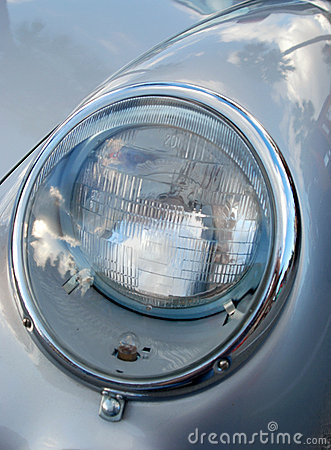 Headlight on sports car Editorial Photo