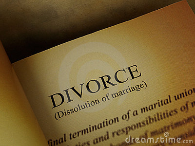 The headline of the divorce book