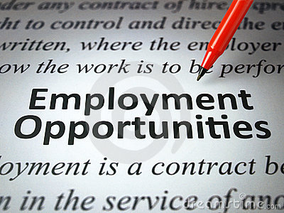 The headline of the employment opportunities