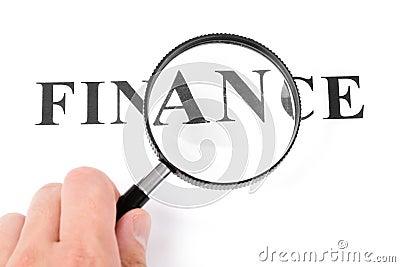 Headline finance and magnifier