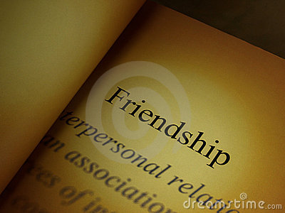 The headline of the friendship book