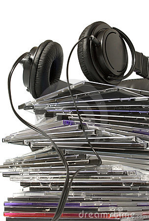 Headphone and cd collection