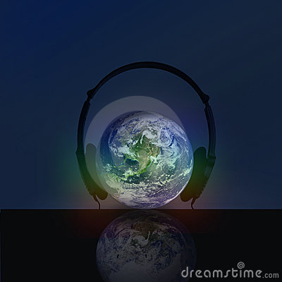 HEADPHONE WITH  GLOBE