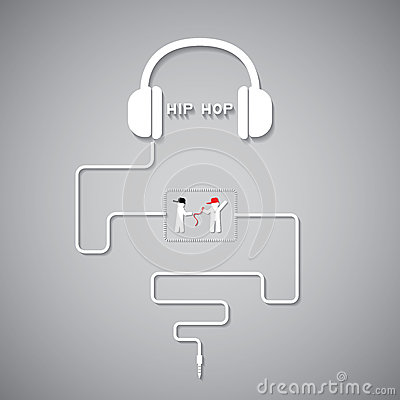 Headphone hiphop Vector Illustration