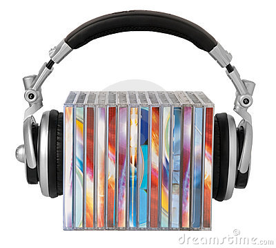 Free Headphones And Cds Stock Image - 11809821