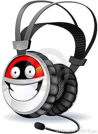 Headphones character.