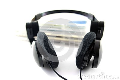 Headphones and compact disks