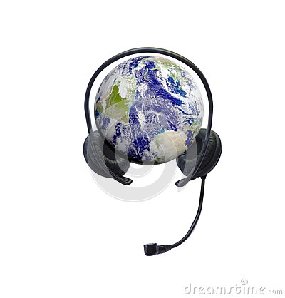 Headphones on earth