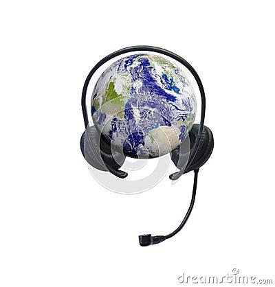 Headphones on earth