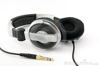 Headphones with gold plug