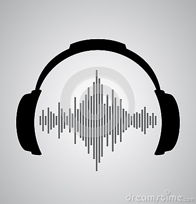 Free Headphones Icon With Sound Wave Beats Royalty Free Stock Image - 41353756