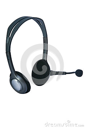 Headphones With A Microphone Stock Photos - Image: 25676833